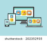 responsive web design | Shutterstock .eps vector #202352935