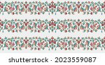 Mughal Art Border Pattern With...