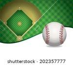 an illustration of a baseball... | Shutterstock .eps vector #202357777