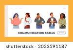 communication skills landing... | Shutterstock .eps vector #2023591187