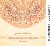 ornate vintage background in... | Shutterstock .eps vector #202360987