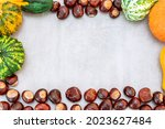 Various Pumpkins And Chestnuts...