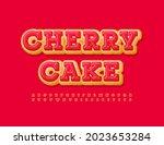 vector sweet sign cherry cake....   Shutterstock .eps vector #2023653284