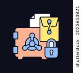 trade secrets rgb color icon... | Shutterstock .eps vector #2023653821