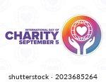 international day of charity.... | Shutterstock .eps vector #2023685264