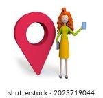 businesswoman with smartphone... | Shutterstock . vector #2023719044