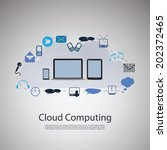cloud computing and networks... | Shutterstock .eps vector #202372465