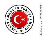 made in turkey text emblem... | Shutterstock .eps vector #2023756211