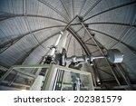 a 65cm refracting telescope | Shutterstock . vector #202381579