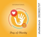 international day of charity  ... | Shutterstock .eps vector #2023821737