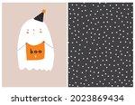 funny hand drawn halloween...   Shutterstock .eps vector #2023869434