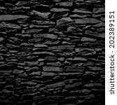 Stone Wall  Black Relief...