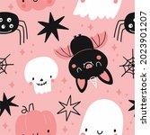 happy halloween cute vector... | Shutterstock .eps vector #2023901207