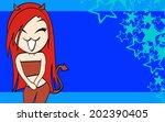 devil girl sexy cartoon... | Shutterstock .eps vector #202390405