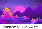 unusual fantasy colorful... | Shutterstock .eps vector #2023962524