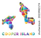 cooper island   colorful low... | Shutterstock .eps vector #2023982174