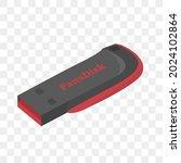 flash disk vector  flat design  ... | Shutterstock .eps vector #2024102864