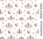 magical esoteric boho seamless... | Shutterstock .eps vector #2024173301
