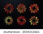 bubbles points dots logo set ... | Shutterstock .eps vector #2024212661