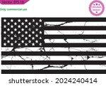 black usa flag. distressed... | Shutterstock .eps vector #2024240414