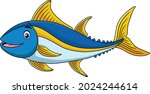 cute tuna fish cartoon vector...   Shutterstock .eps vector #2024244614
