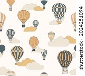vector seamless pattern with... | Shutterstock .eps vector #2024251094