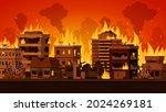 cartoon apocalyptic city... | Shutterstock .eps vector #2024269181