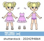 cartoon girl with bob hairstyle ... | Shutterstock .eps vector #2024294864