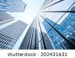 modern business center in... | Shutterstock . vector #202431631