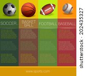 sports info graphic design | Shutterstock .eps vector #202435327