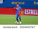Small photo of Barcelona, Spain. 08th August 2021 . Gerard Pique of Fc Barcelona during the pre-season friendly match between Fc Barcelona and Juventus Fc .