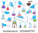 chemistry laboratory test tubes ... | Shutterstock .eps vector #2024465747
