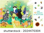 find 10 objects in the picture. ...   Shutterstock .eps vector #2024470304