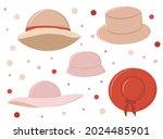 a set of women's hats  an item... | Shutterstock .eps vector #2024485901