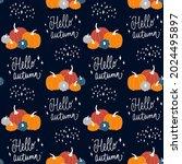 vector seamless autumn pattern... | Shutterstock .eps vector #2024495897