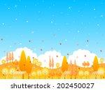 maple foliage landscape | Shutterstock .eps vector #202450027
