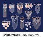 macrame vector set. cord wall...   Shutterstock .eps vector #2024502791
