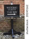 Wedding Guest Sign.
