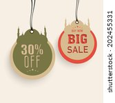 offer and discount sale tags in ... | Shutterstock .eps vector #202455331
