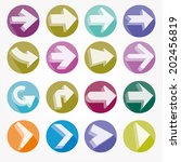 arrow icons vector illustration ... | Shutterstock .eps vector #202456819