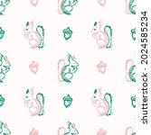 whimsical cute doodle shape...   Shutterstock .eps vector #2024585234