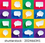 Vector Speech Bubbles In Flat...
