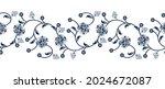 seamless monochrome floral... | Shutterstock .eps vector #2024672087