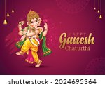 happy ganesh chaturthi... | Shutterstock .eps vector #2024695364