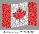 mosaic waving canada flag... | Shutterstock .eps vector #2024708381