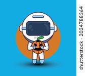 astronaut with halloween.... | Shutterstock .eps vector #2024788364