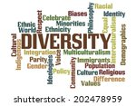 diversity word cloud with white ... | Shutterstock . vector #202478959