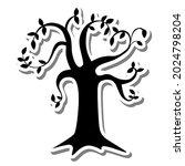 black silhouette shadow tree... | Shutterstock .eps vector #2024798204