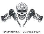 blue collar worker vintage... | Shutterstock .eps vector #2024815424
