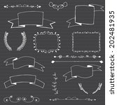 vector chalkboard ribbons | Shutterstock .eps vector #202481935